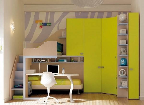 decoracion infantil en cuartos de espacio reducido