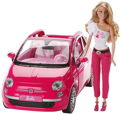 barbie con coche