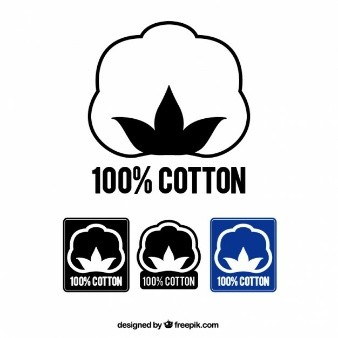 etiqueta de material 100 por 100 algodon