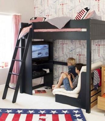 Multifuncion de las camas altas para niños