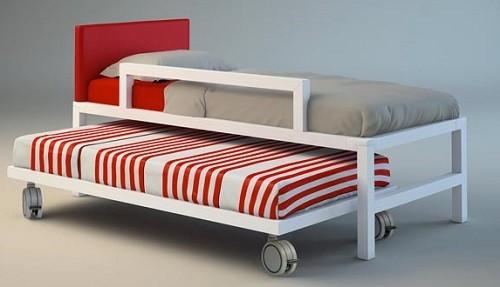camas nido infantiles con barrera de seguridad