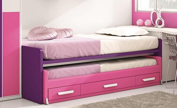 camas nido compactas para habitaciones juveniles infantiles
