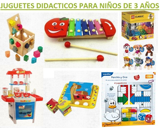 juguetes didacticos para niños de 3 años