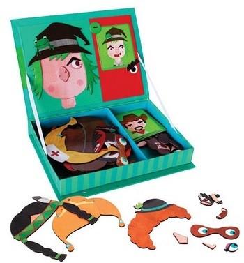 puzzles con figura de caras como juguete didactico intelectual