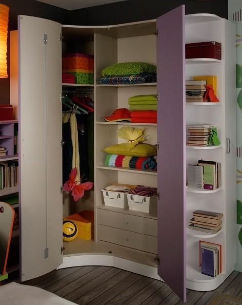 armario esquinero para cuartos de adolescentes