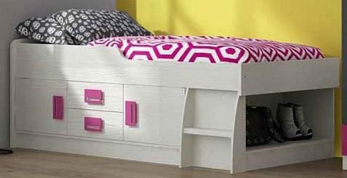 cama compacta con peldaño
