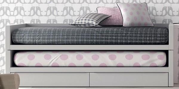 cama compacta para niños con cama descubierta