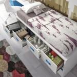 camas compactas juveniles con cajones
