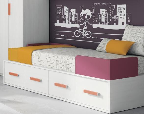camas compactas con una fila de altura