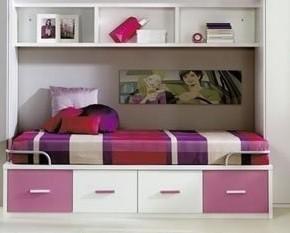 cama compacta con contenedores