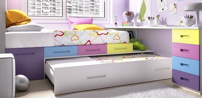 camas compactas juveniles con cama en parte inferior