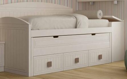 cama compacta juvenil con cama escondida oculta