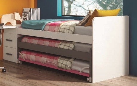 camas compactas triples para habitaciones juveniles