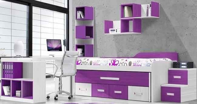 complementos a juego con mobiliario de camas compactas