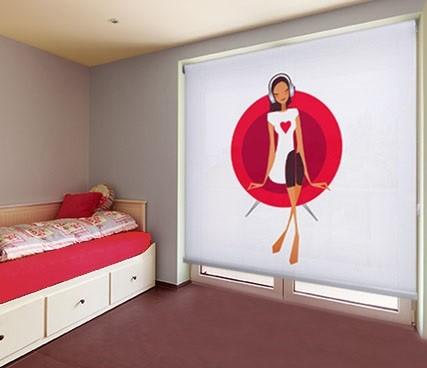 estores con diseños sorprendentes para cuartos juveniles