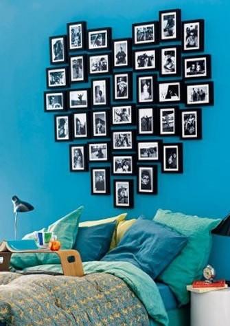 utilizar fotos para decorar cuartos juveniles
