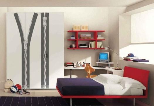 utilizar vinilos para ambientar dormitorios de chavales