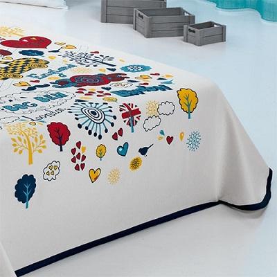 colcha fina de verano para cama infantil sin volante