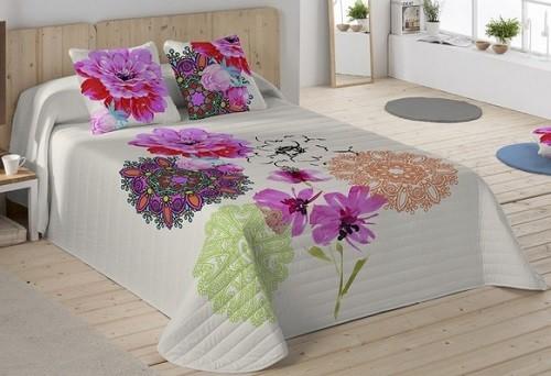 colcha naturals con flores