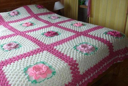 cubiertas de crochet o ganchillo de verano para camas infantiles