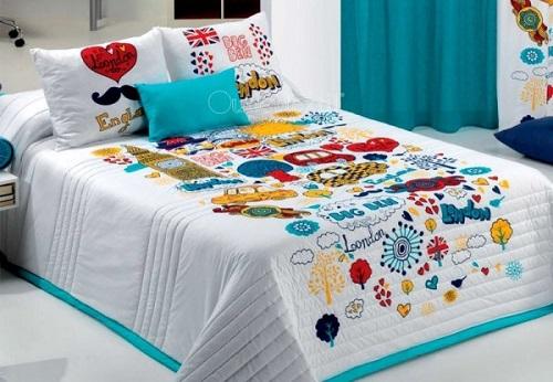 Tipos de colchas de verano infantiles para camas de ni os for Cubrepies de cama
