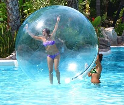burbuja gigante flotante