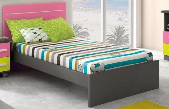 cama individual grande de 105