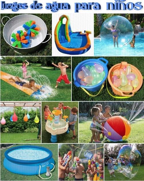juegos de agua para niños en verano