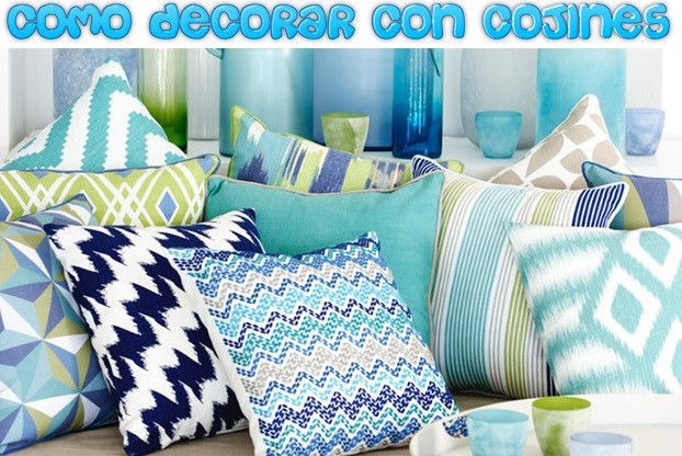 como decorar con cojines decorativos