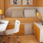 como decorar una habitacion pequeña para ganar espacio