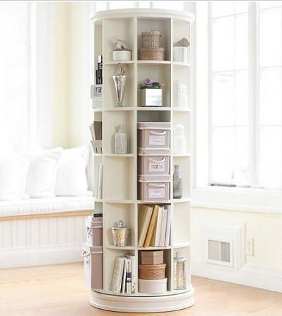 estanteria giratoria para dormitorios con poco espacio
