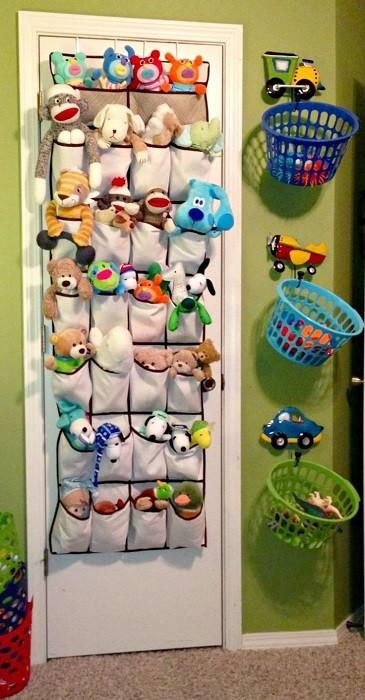 bolsillero y cestos para ordenar los juguetes