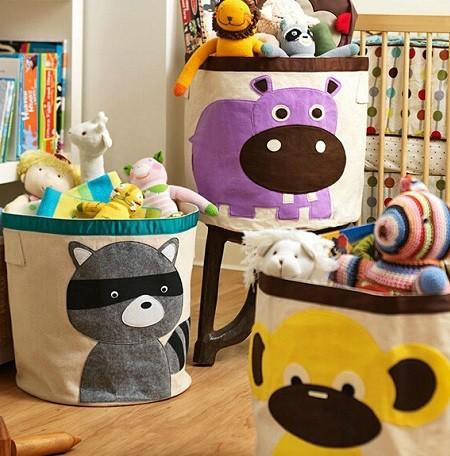 cestos de telas para acumular juguetes