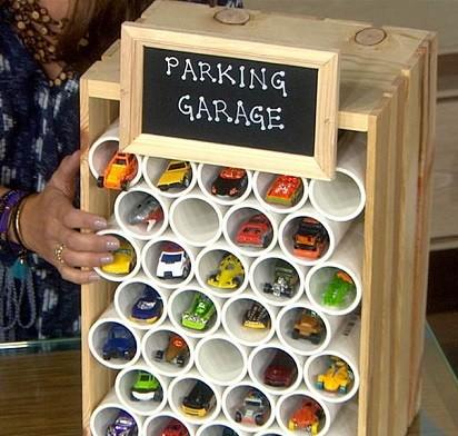 mantener guardados los coches de juguete