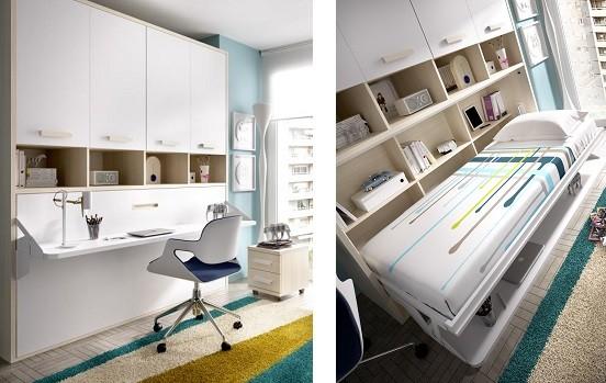 Opiniones sobre camas abatibles horizontales y verticales - Habitaciones juveniles camas abatibles horizontales ...