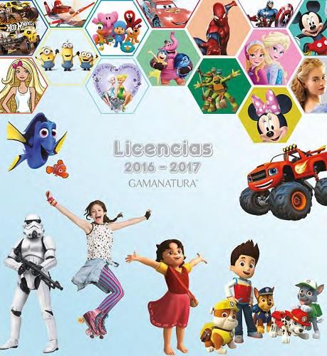 gamanatura licencias de dibujos animados