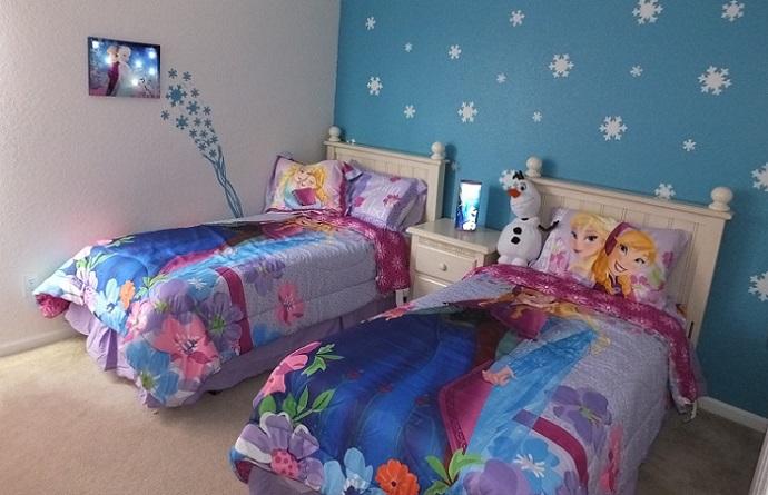 habitacion cama infantil de frozen