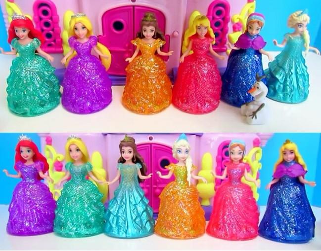 cambiar vestidos princesas disney magiclip