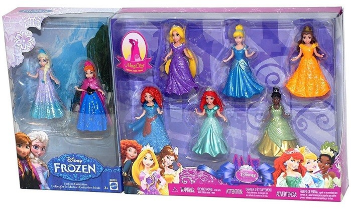 princesas magic clip de mattel con frozen