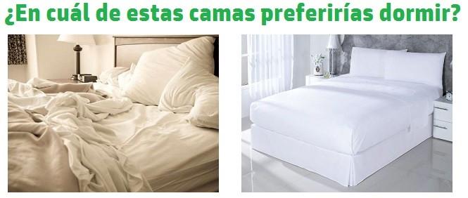 dormir en una cama sin hacer o hecha