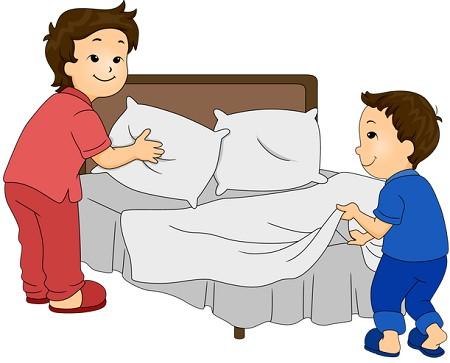 enseñar a hacer la cama a nuestros hijos