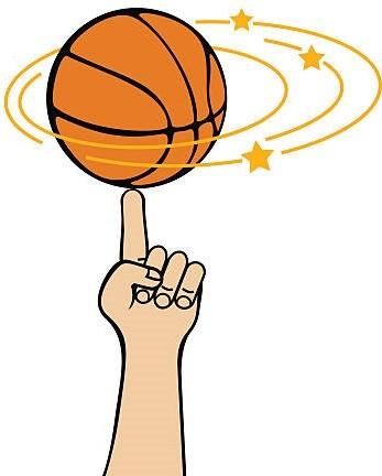 rodar pelota baloncesto por el dedo