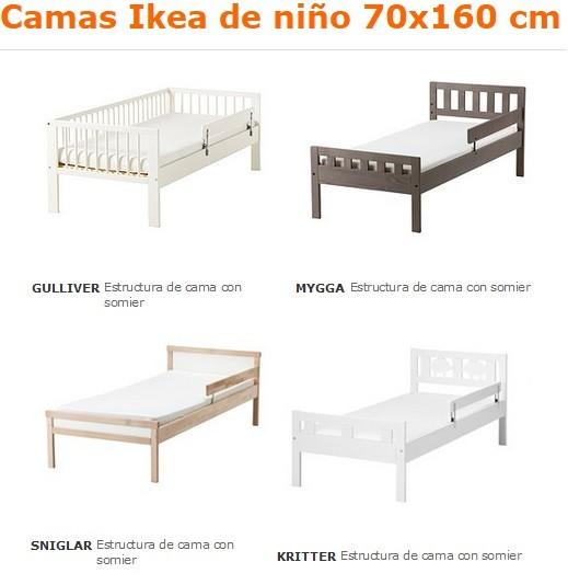 camas ikea de niño 70x160
