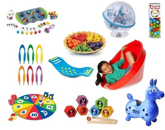 ejemplos de juguetes sensoriales y motrices