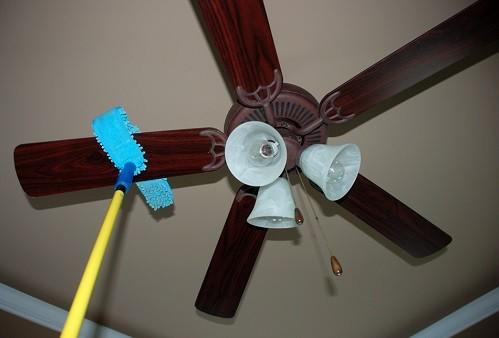 limpieza aspas ventilador techo