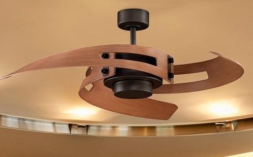ventilador techo paletas curvas