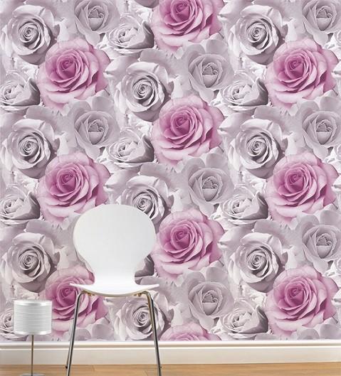 papel pintado estilo flores