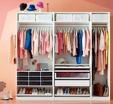 armario abierto para niños sin puertas
