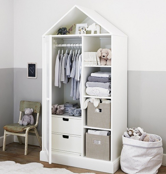 armario infantil con forma de casa original
