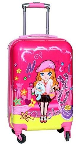 dibujo color equipaje chica